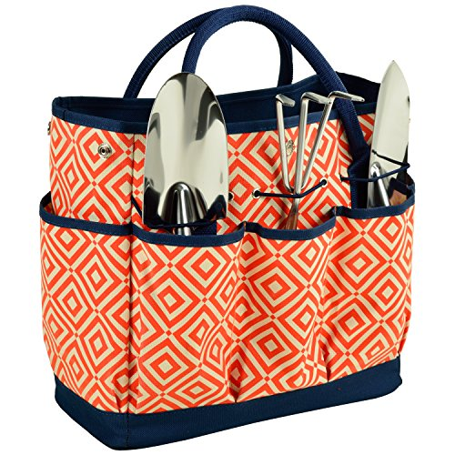 picnic-at-ascot-diamond-collection-gardening-tote-with-tools-orange-navy