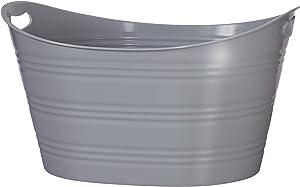 CreativeWare, Grey Party Tub 8.5 Gl, 8.5 Gallon