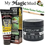 My Magic Mud Activated Charcoal Teeth Whitening Kit 3 in 1 Activated Charcoal Powder, Activated Charcoal Teeth Whitening Toothpaste and Venu Bamboo Toothbrush