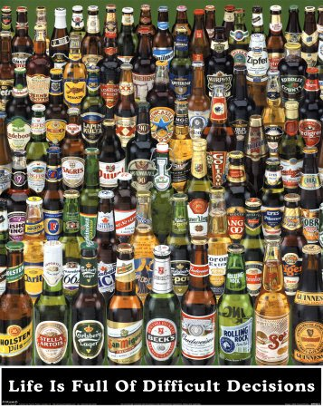 Difficult Decisions Bottles Poster Print product image