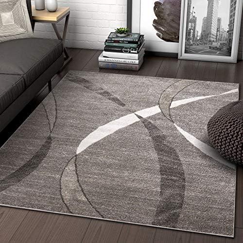 Well Woven Felice Stripes Grey Geometric Modern Lines Area Rug 8×11 7 10 x 9 10 Carpet