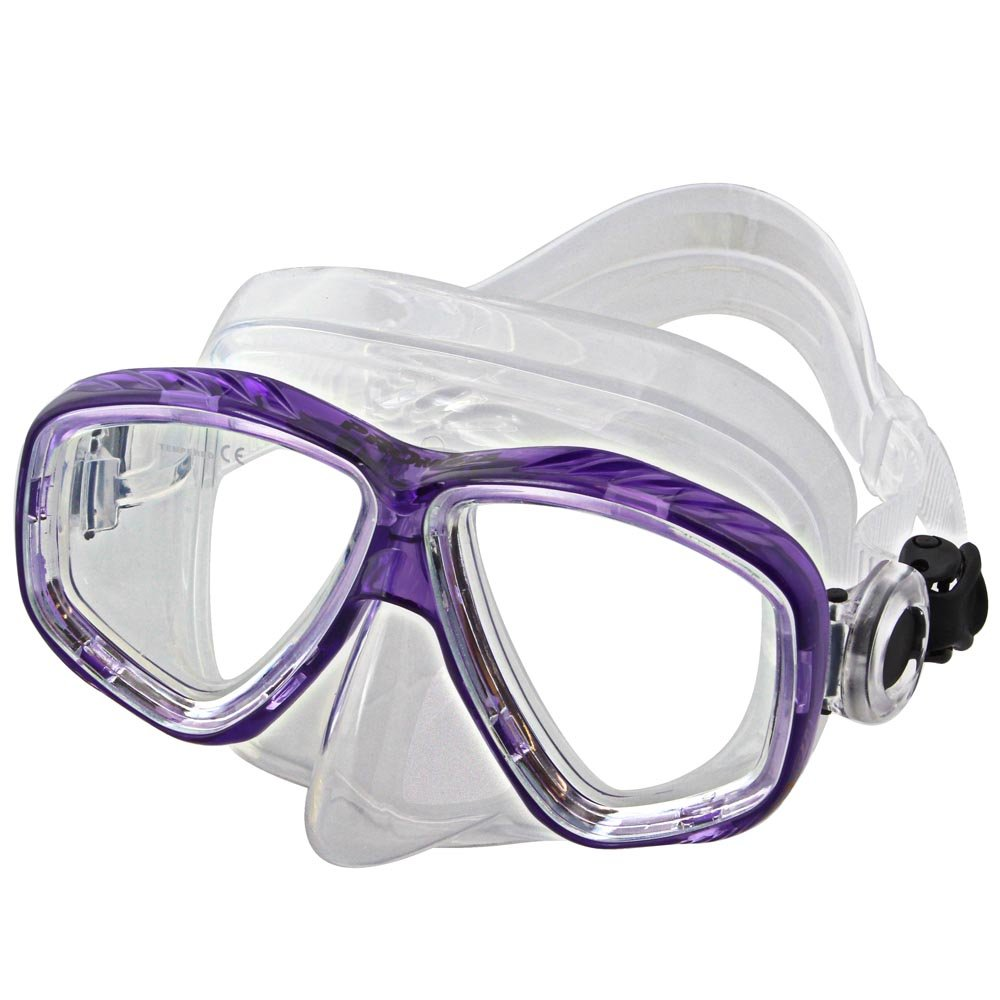 Promate Different Nearsight Optical Corrective Lenses on Each Side Snorkel Mask, tPurple by Promate
