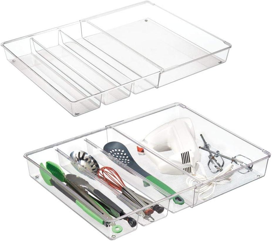 kitchenedge bamb/ú organizador de caj/ón de cocina para cubiertos y utensilios de cocina ampliable a 28/pulgadas de ancho 10/compartimentos