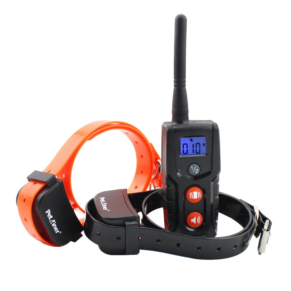 orange Remote Pet Dog Training Collar,Electronic Agility Trainer Rechargeable for Dogs Guide LCD Display Waterproof