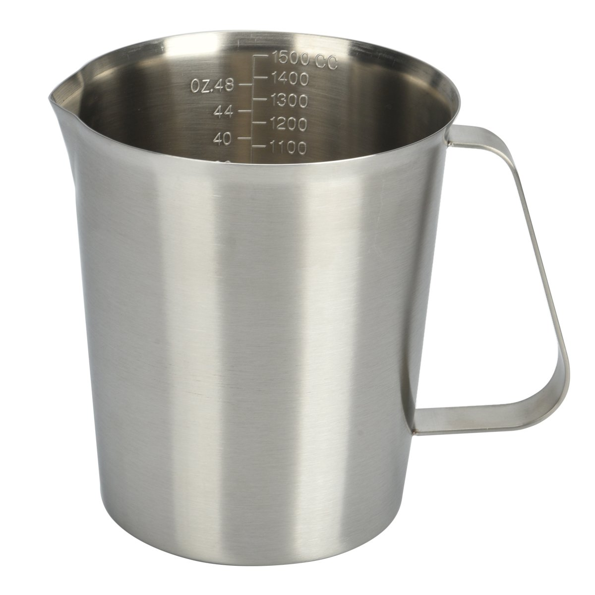 Stainless Steel Liquid Measuring Cup for Kitchen Large Measurement Cups Aslo Use as Frothing Pitcher Measuring Cup (48 Ounce)