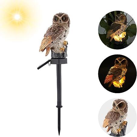 Hibou Lampe de jardin Lampe solaire Lumière du soleil éclairage extérieur