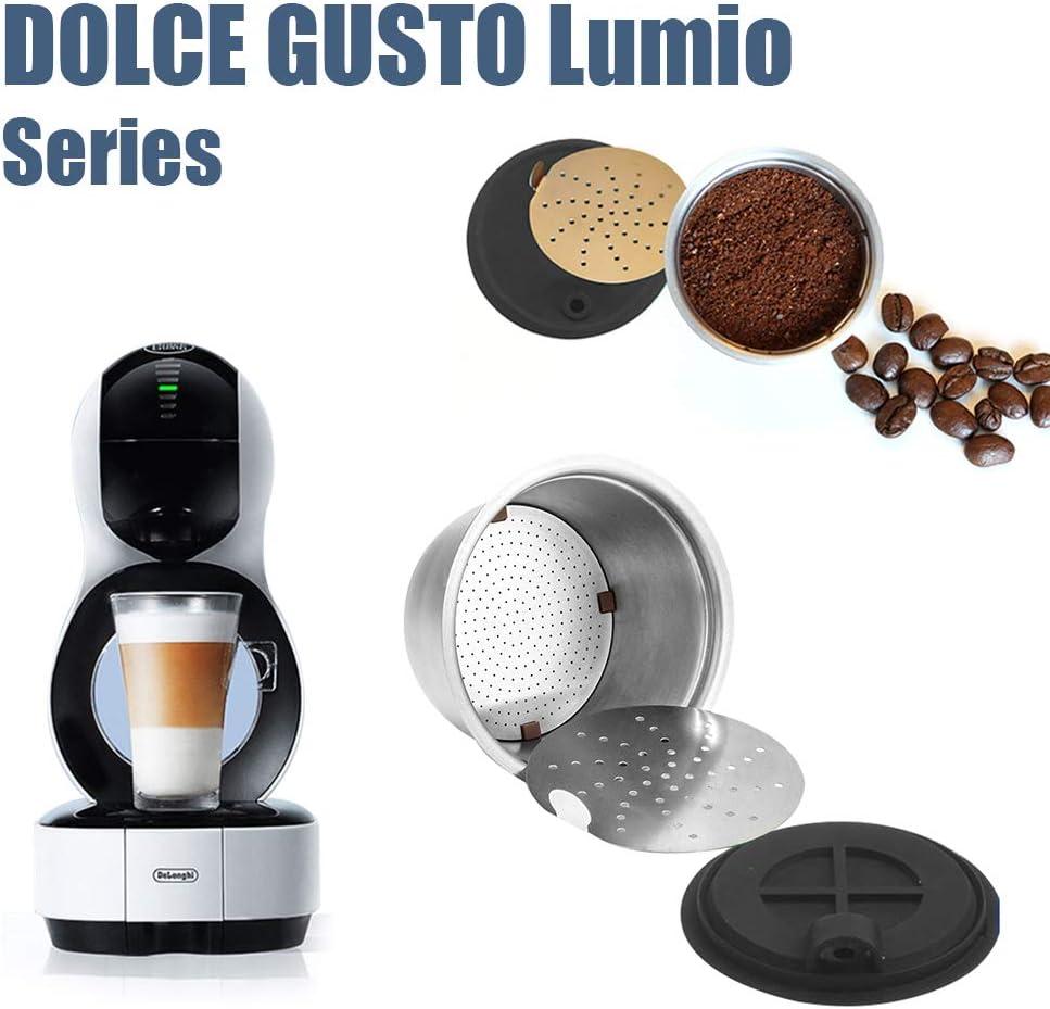 Donpow Cápsula de café, cápsulas de café recargables de acero ...