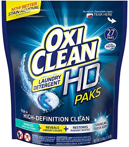 Oxiclean Laundry Detergent HD Pack, Sparkling Fresh Scent, 27