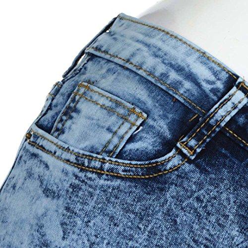 A Tempo sexy Jeans Slim Luoluoluo Lavato Pantaloni Buco Donna Pantaloni Stretti I Jean Pieno Vita Skinny Elastico Addosso Alta Sexy Strappato Strappati wafYqxYBp