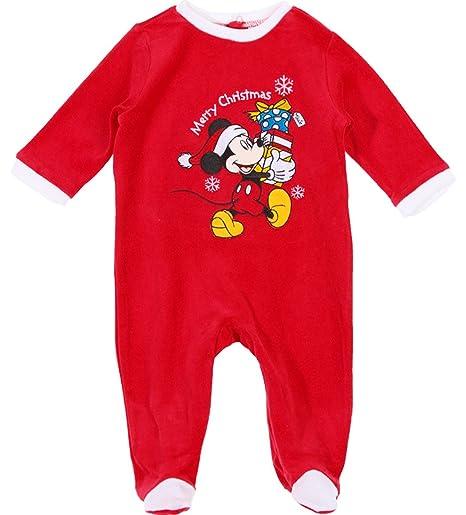 19b2f6fd50558 Pyjama noël bébé 'Merry christmas' Mickey Disney baby Rouge 6mois ...