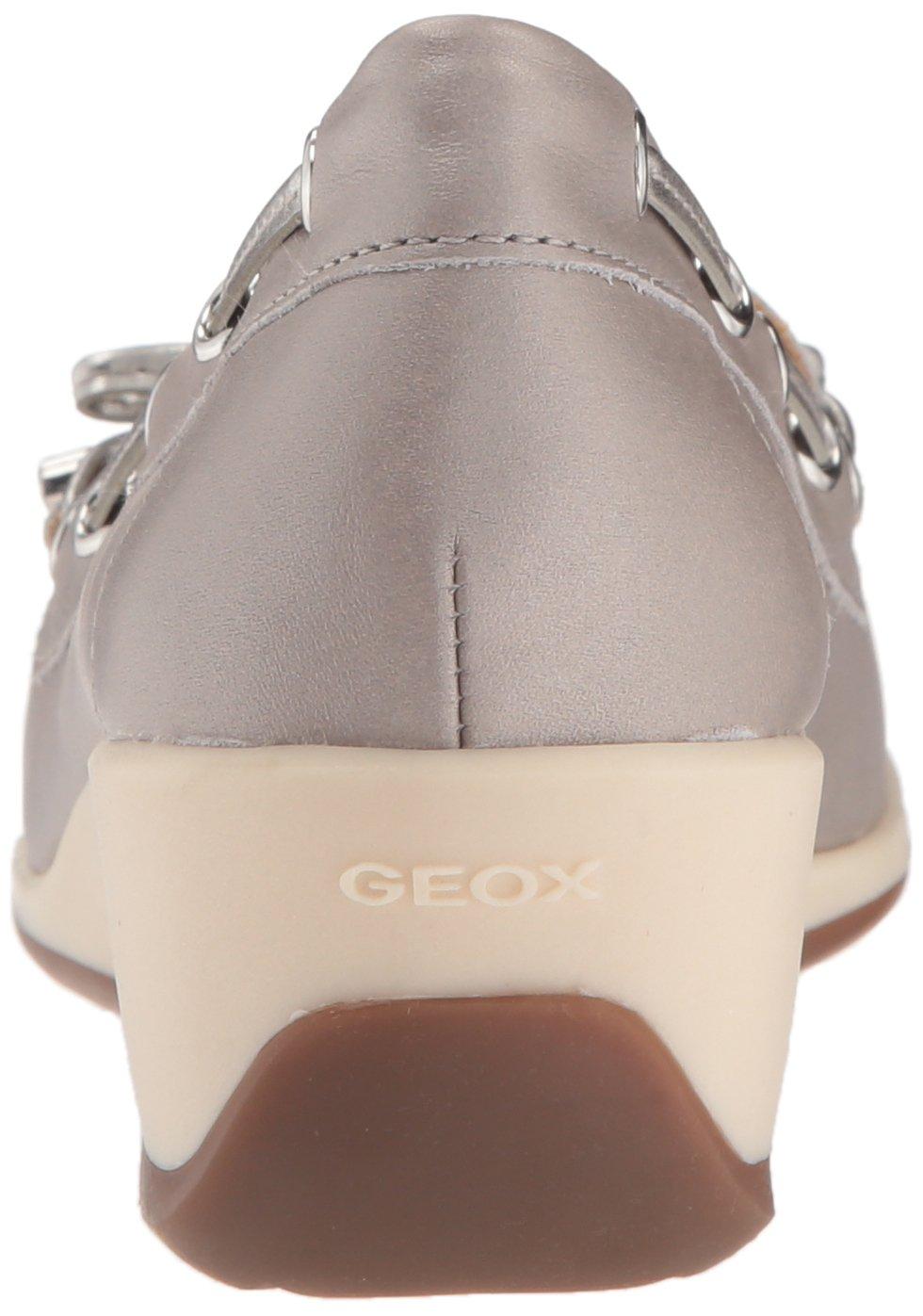 Geox D Arethea A Grau/Off Damen Mokassin Grau (Lt Grau/Off A Weiß) 0f6bc4