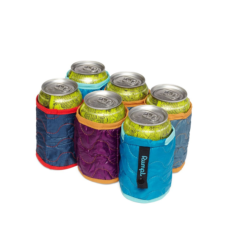 Rumpl The Beer Blanket 6-Pack | Insulated Beverage Sleeves for Both Cans and Bottles, Keeps Your Drink Ice Cold | Perfect for Tailgating, BBQ, Weddings, Camping
