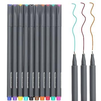 Fineliner Juego de color, lápices NIUTOP 10 fina Liner 0.38 mm Punto ...