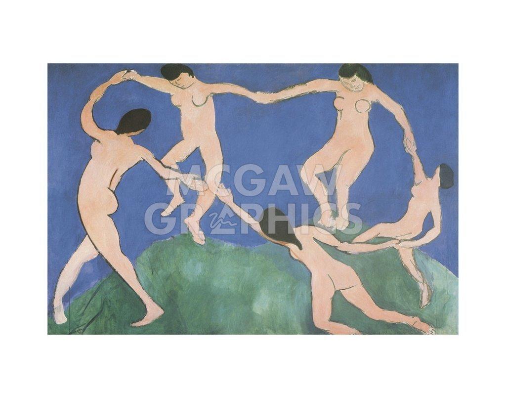Dance I by Henri Matisse, Art Print Poster 11'' x 14''