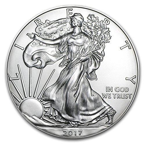 Buy Silver Coins (2017 1 oz Silver American Eagle Coin BU 1 OZ Brilliant Uncirculated)