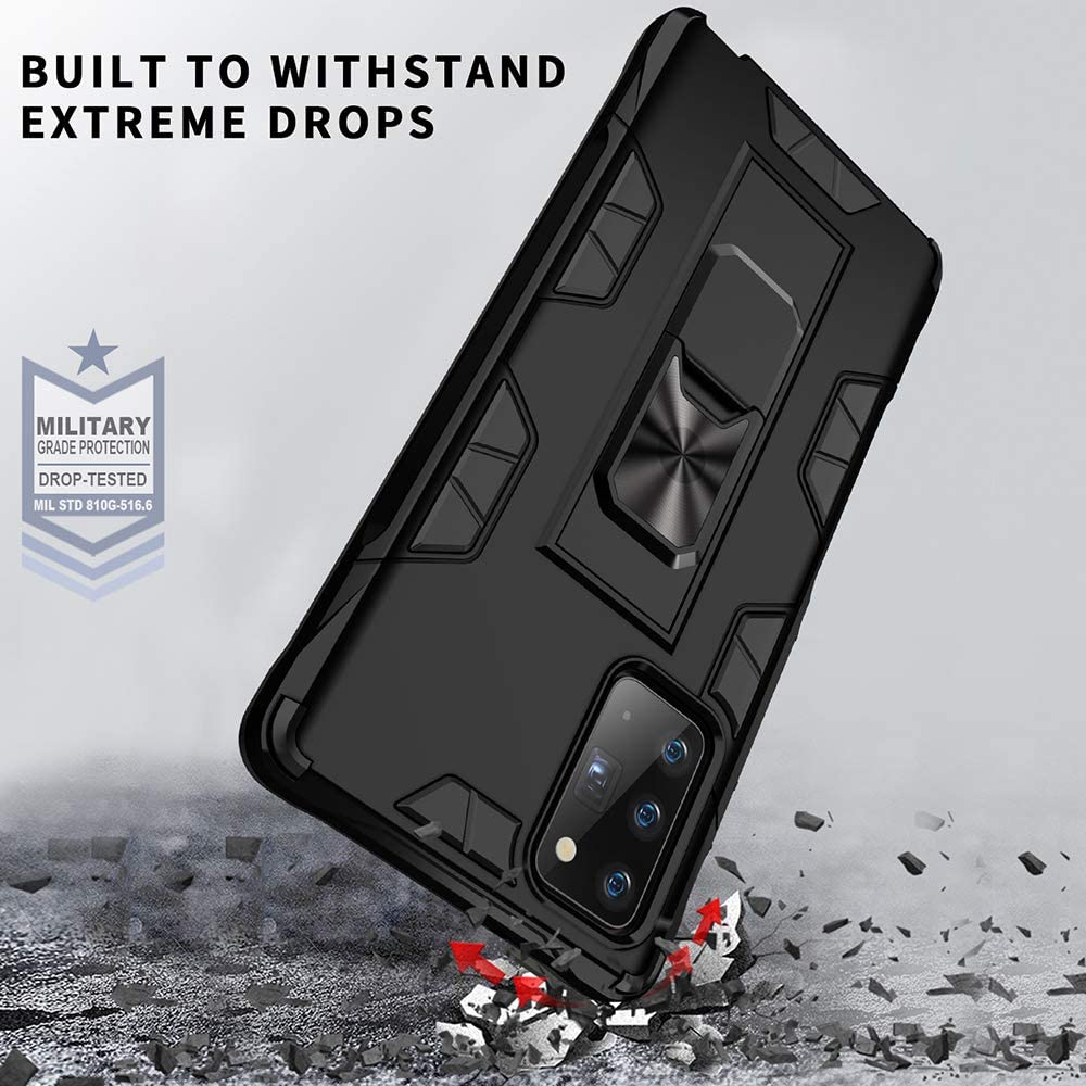 Rose Gold Samsung Galaxy Note 20 Case Note 20 5G Case Military Grade Shockproof with Kickstand Stand Built-in Magnetic Car Mount Armor Heavy Duty Protective Case for Galaxy Note 20 5G Phone Case