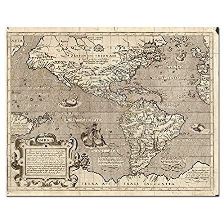 Hcozy art canvas painted world map vintage style poster print hcozy art canvas painted world map vintage style poster print terra avs trale incognita gumiabroncs Choice Image