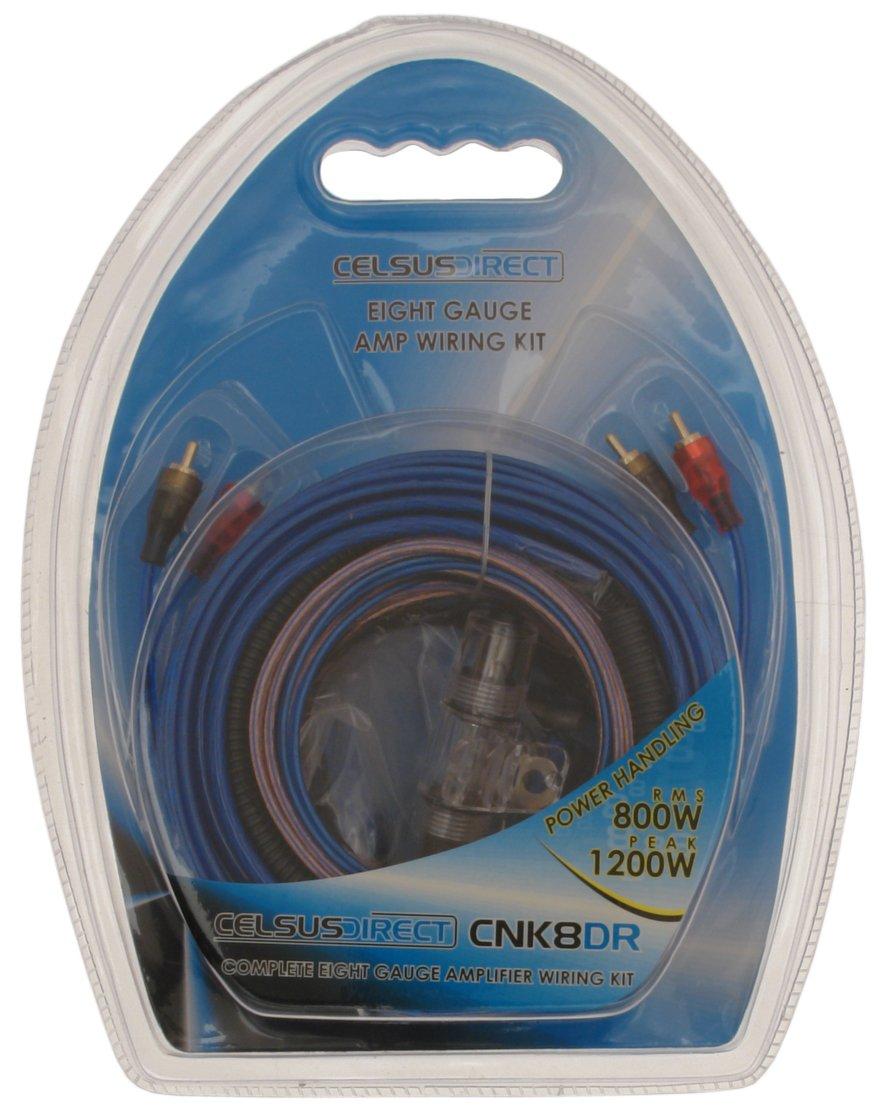 Celsus CNK8DR 8AWG 8 Gauge Amp Wiring Kit: Amazon.co.uk: Car & Motorbike