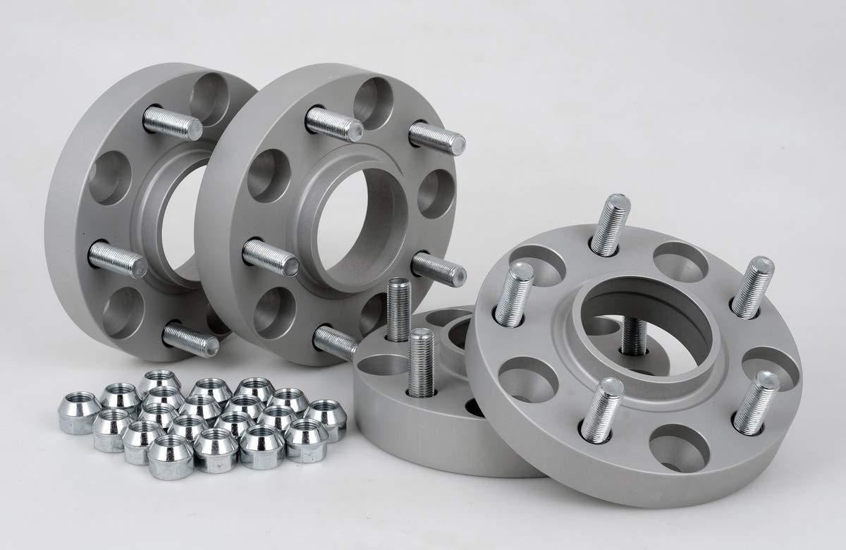 inkl 25 mm pro Scheibe // 50 mm pro Achse T/ÜV-Teilegutachten /& ABE Spurverbreiterung Aluminium 2 St/ück