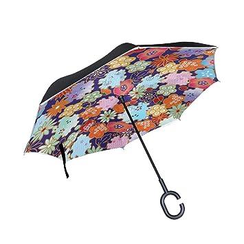 Skyda Parapluie Inversé Double Couche Pliable En Papier Origami