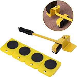 Mostbest Furniture Lifter Furniture Moving Tool Set System Heavy Appliance Lifting 5 Packs W/ 4 Slider Glider Pad