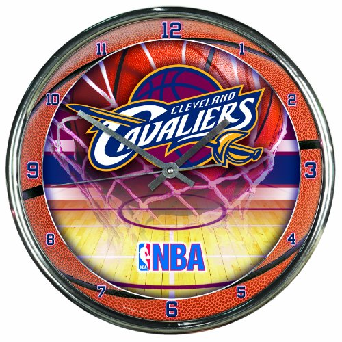 NBA Cleveland Cavaliers Chrome Clock, 12