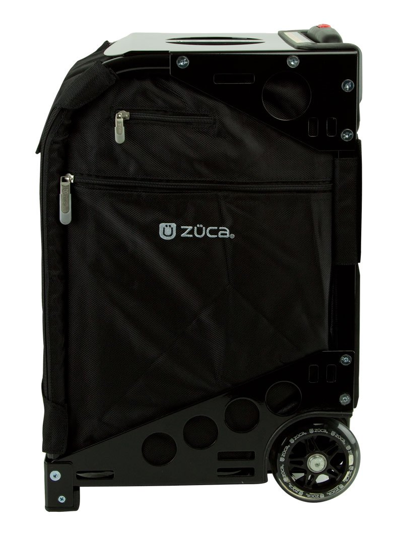Zuca Pro Complete Set- Black Insert Bag with Travel Cover, Standard Packing Pouches and Tsa , and Pro Black Frame by ZUCA