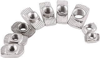 50Pcs T-slot Nuts Hardware M4 M5 M6 M8, 9 Size Zinc Plated Carbon Steel Fastener For Aluminum Profile(EU30-M6*16.5*8)