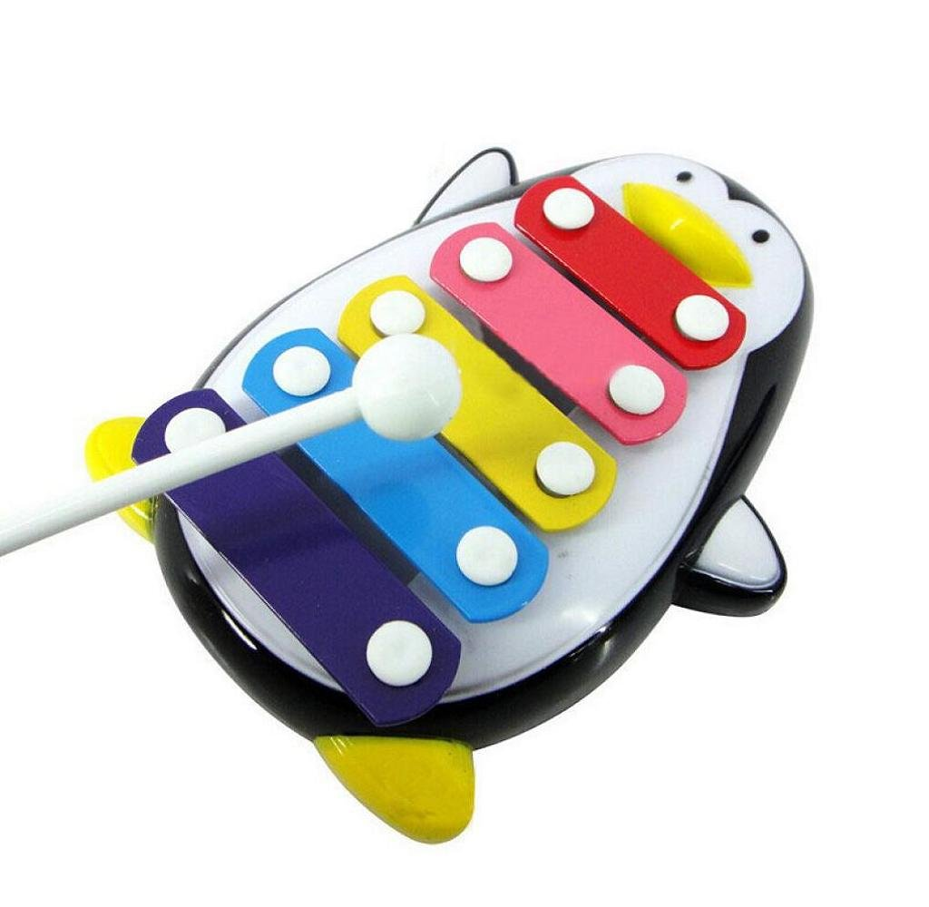Dragon868 Baby Child Kid 5-Note Xylophone Musical Toys Wisdom Development Beetle Instrument Early Education Green