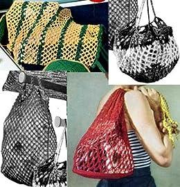 Amazon.com: Malla estilo bolsas para Crochet y bolsas de ...