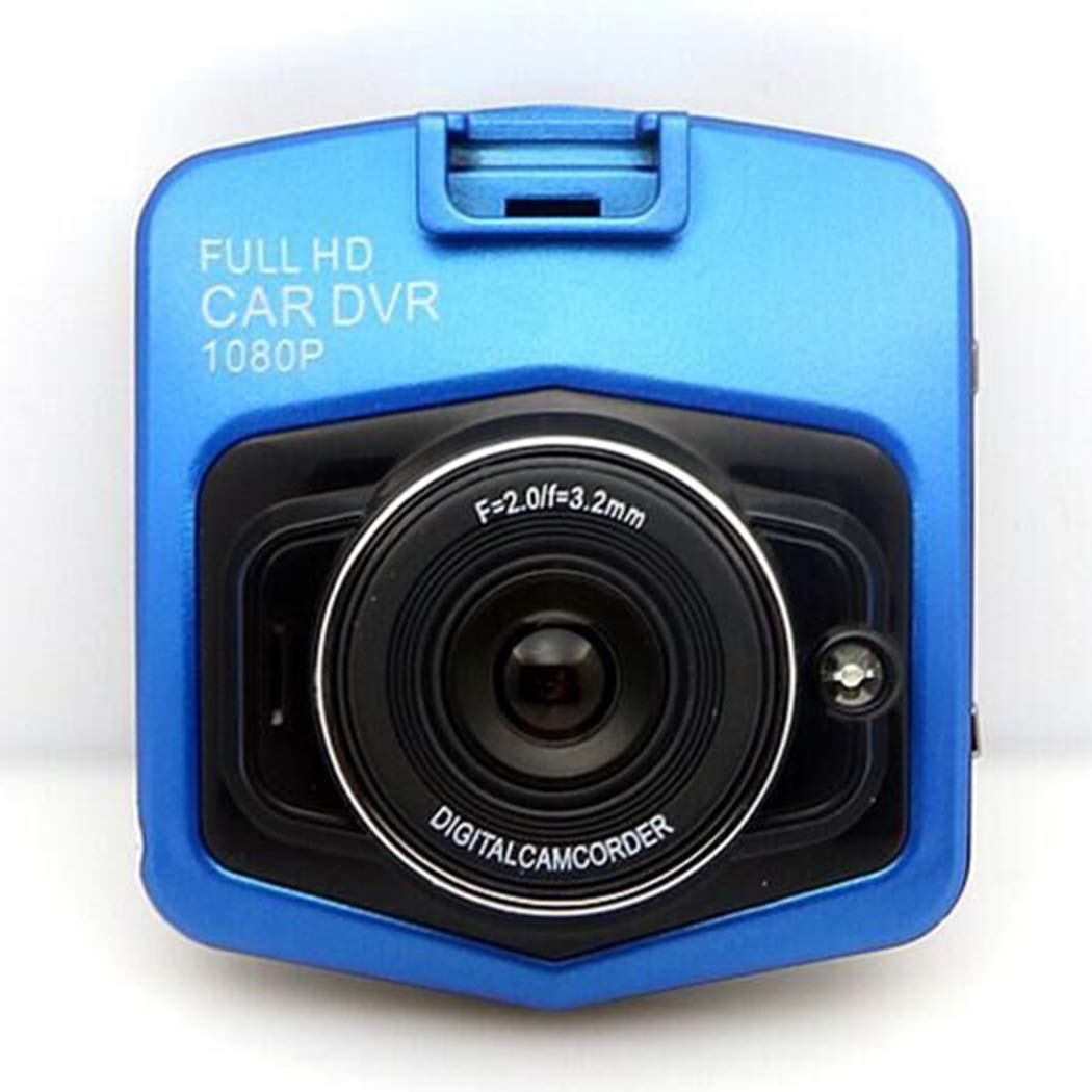 Mini Car 1080P Night Vision Dash Camera Car DVR 140 Degree Wide Angle Driving Recorder in-Visor Video (Blue)