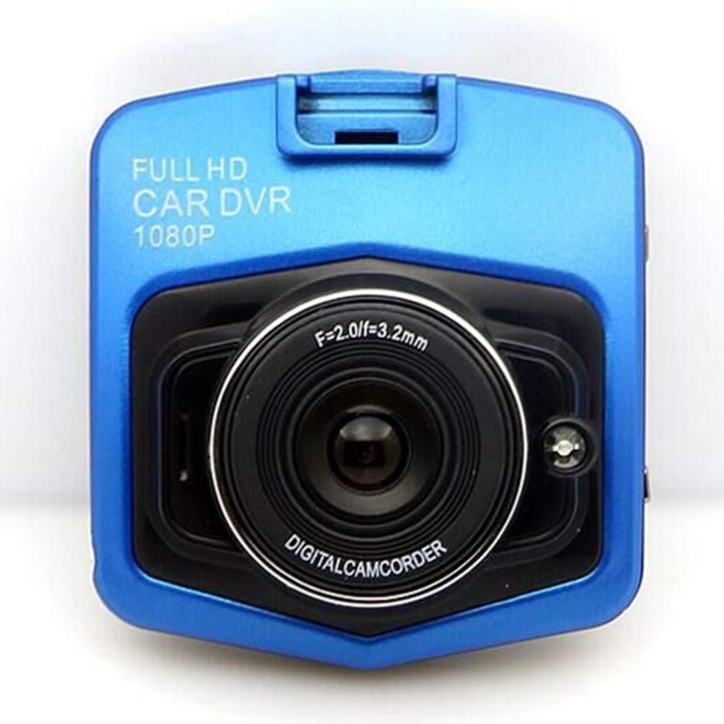 Mini Car 1080P Night Vision Dash Camera Car DVR 140 Degree Wide Angle Driving Recorder in-Visor Video (Blue)