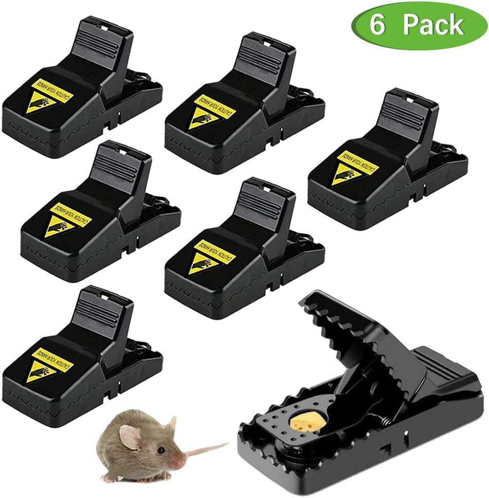 Trampa para Ratones para Ratones peque/ños Trampa para Ratones Segura para Familia y Mascotas 6 Unidades Lachesis Ratones y Ratones para Interior y Exterior