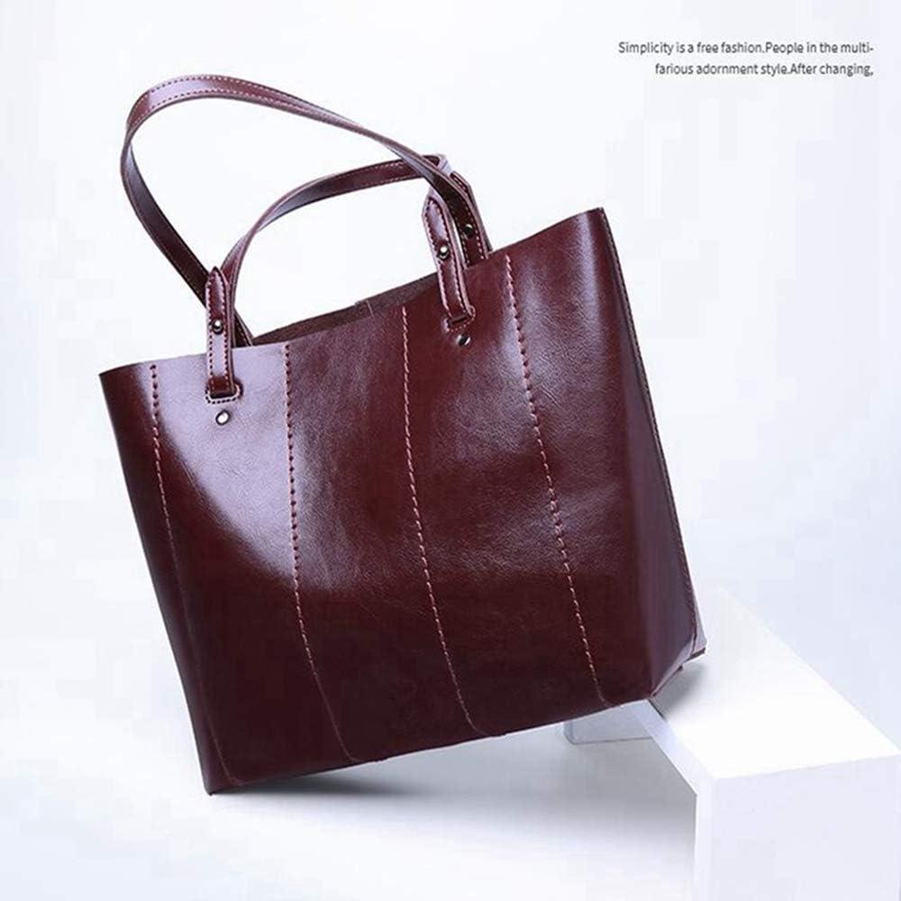 Sxuefang Damen Handtasche Handtasche Diagonaltasche Frauen GroßE KapazitäT Wasserdichte Hochwertige Tasche 34x11x28cm B