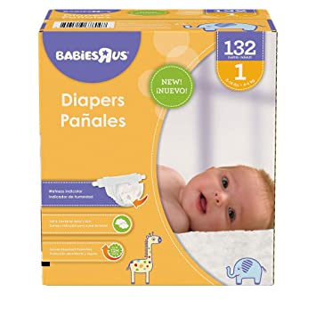 Babies R Us Size 1 Super Pack Diapers - 132 Count
