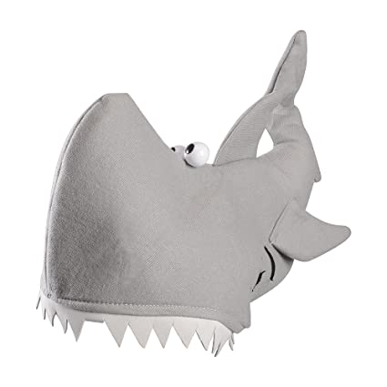 32698c9077de8 Amazon.com  Shark Hat - Adults Shark Costume Accessory - Novelty Hats by  Funny Party Hats  Kitchen   Dining