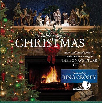 (The Bible Story of Christmas - Bonaventure Choir / Bing Crosby - vinyl album )