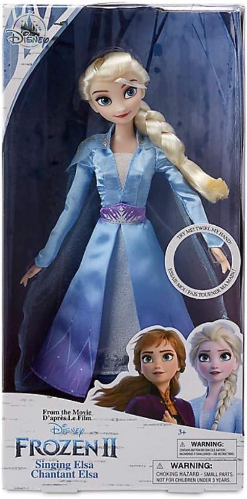 D Disney Store Elsa Muñeca Cantante, Frozen 2, Original Disney ...