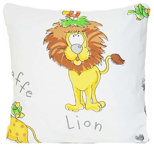 Funda para cojín infantil de León diseño de manta decorativa ...
