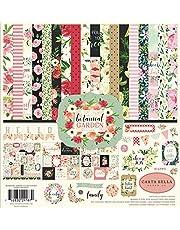 Carta Bella Paper Company Botanical Garden Collection Kit paper, pink, green, black, red, cream