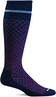 product image for Sockwell Men's Micro Mix Firm Compression Socks (Navy, L/XL)