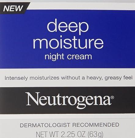 Neutrogena Deep Moisture Night Cream with Glycerin Vitamin D3, Facial Moisturizer for Dry Skin with Shea butter, Glycerin, Vitamin D3, Non Greasy Non Comedogenic, 2.25 oz