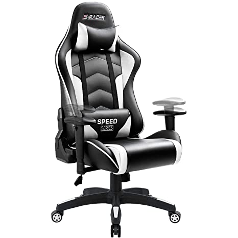 Enjoyable Homall Gaming Chair High Back Computer Chair Racing Style Office Chair Embossing Design Pu Leather Bucket Seat Desk Chair With Adjustable Armrest Bralicious Painted Fabric Chair Ideas Braliciousco
