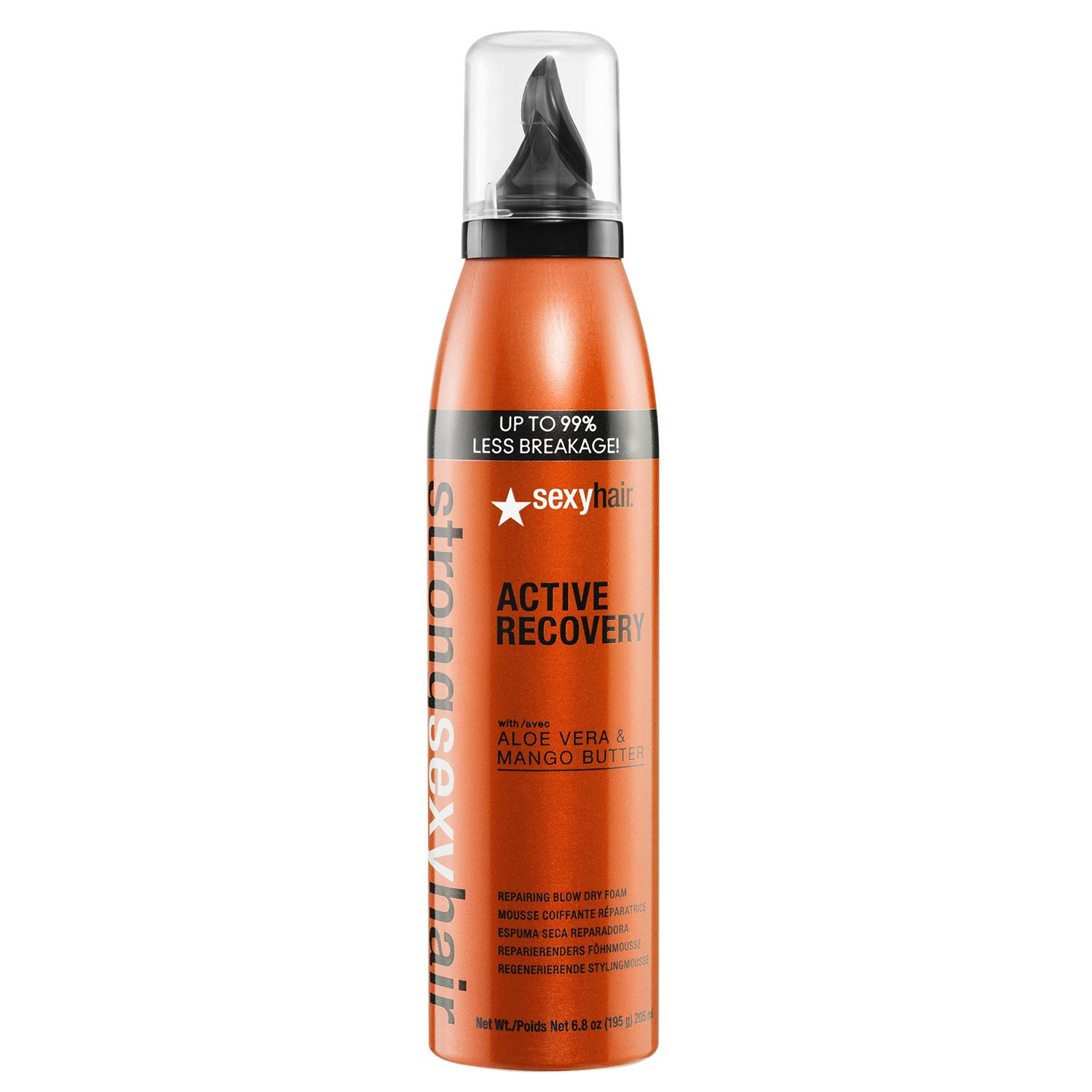 SexyHair Strong Active Recovery Repairing Blow Dry Foam, 6.8 oz