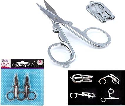 Mini Folding Metal Pocket Travel SCISSOR Trimming Craft Item Small Sharp Cutter