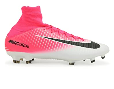 Nike Men\u0027s Mercurial Veloce Iii Dynamic Fit Fg Racer Pink/Black/White Soccer  Shoes