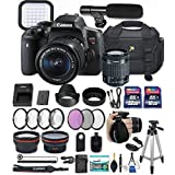 Canon EOS Rebel T6i 24.2 MP DSLR Camera with Canon EF-S 18-55mm f/3.5-5.6 IS STM Lens + 32GB & 16GB Memory Cards + Professional Kit + Accessory Bundle (Professional Video Kit)