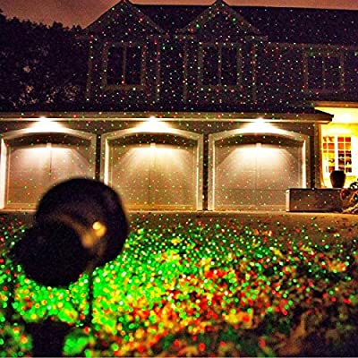 LED Laser Christmas Lights Projector-All Metal Aluminum Waterproof Design-Red & Green Colors-Outdoor Holiday Landscape Lights-Remote Control & Built In Timer Feature!