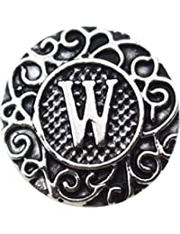 "Interchangeable Snap Jewelry Metal Letter ""W"" 18-20mm by My Prime Gifts"
