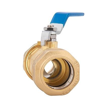 les locaux et la maison m/écanisme de fermeture l/éger Robinet boule en laiton pour tuyau PE de haute qualit/é design RAC GE 1 robinet darr/êt id/éal pour lindustrie